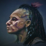 Iroquois warrior--Battle scars